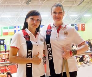 Кононова Марина и Фефилова Наталья на Кубке Мира WDF 2015.